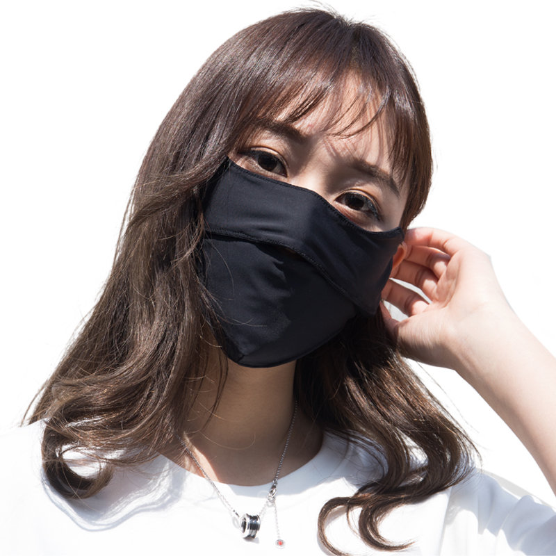防晒口罩防紫外线男女春夏季薄款冰丝时尚面罩防尘透气夏天可清洗