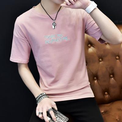 个性t恤男同款夏季紧身短袖恤男版修身潮流便宜9.9元特价男装白色