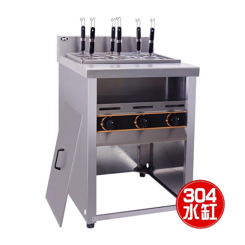 锦十邦立式六6头关东煮机煮面炉商用燃气煤气麻辣烫锅烫粉汤面炉