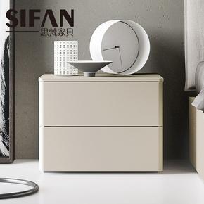 定制北欧风格床头柜时尚收纳柜现代简约卧室家具抽屉储物柜床边柜