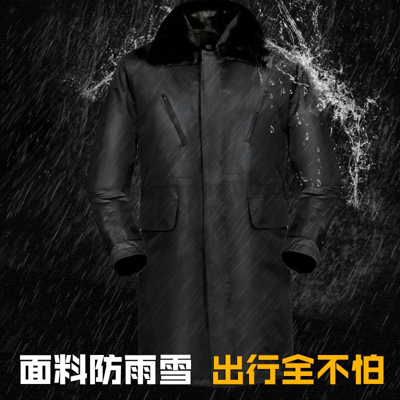 军大衣男冬季加厚长款特种兵正品保安棉大衣女劳保防寒服袄可拆洗