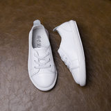 Children's shoes autumn shoes single shoes boys and girls casual shoes wild leather children's pure white small shoes white shoes