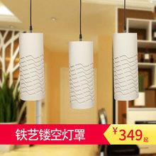 欧普照明LED餐吊灯简约现代餐厅灯LED光源三头长方形餐桌灯 清澜图片