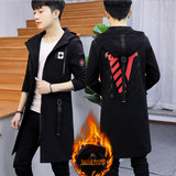 Windbreaker male 12-15 year old teenager in the long section 16 boys junior high school students 13 handsome spring and autumn coat