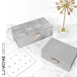 Modern creative gray cloth collection box crystal agate decorative jewelry box ornaments between the model room soft dresser table