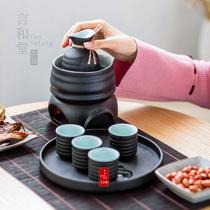 日式温酒器 家用烫酒壶陶瓷煮酒器 清酒酒具黄酒热酒烧酒器暖酒器