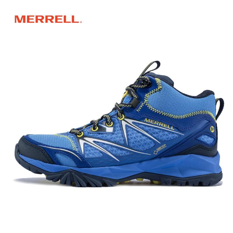 MERRELL迈乐女鞋 GORE-TEX透气户外轻装徒步登山鞋防滑耐磨J35438