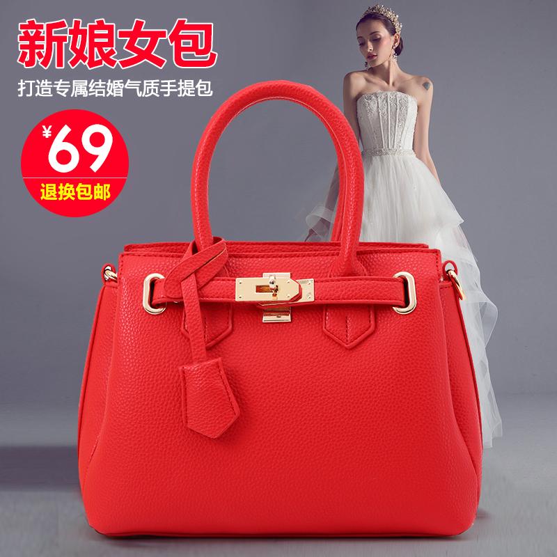 新娘红色女手提包