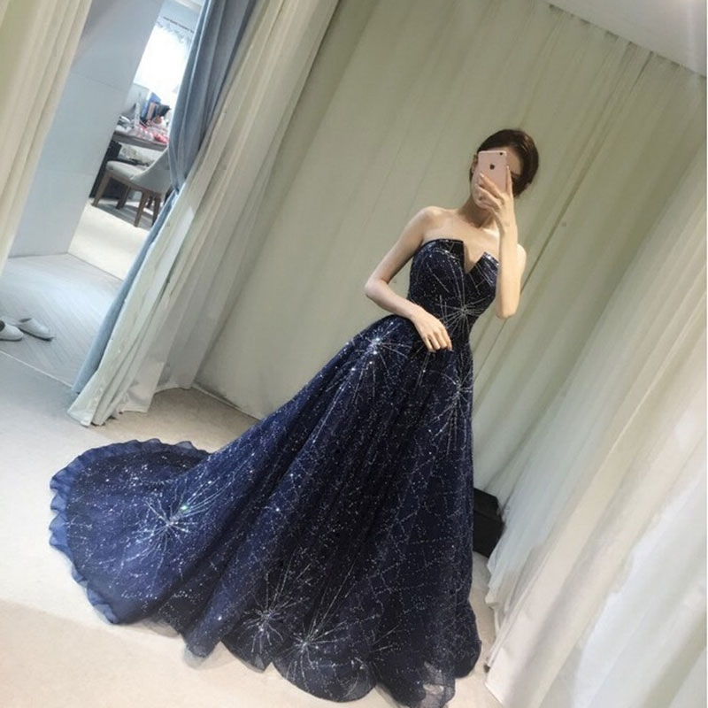 with the model host wedding dress long paragraph was thin and elegant temperament birthday party banquet