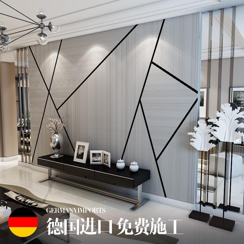 北欧电视背景墙壁纸简约现代卧室客厅墙纸8d几何装饰壁画影视墙布