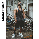 Male loose-fitting, quick-drying fitness suit sleeveless muscle training top