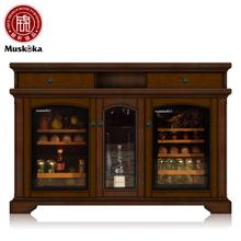 嵌入式恒温恒湿红酒柜家用冰吧触摸屏茶叶冷藏柜风冷雪茄柜