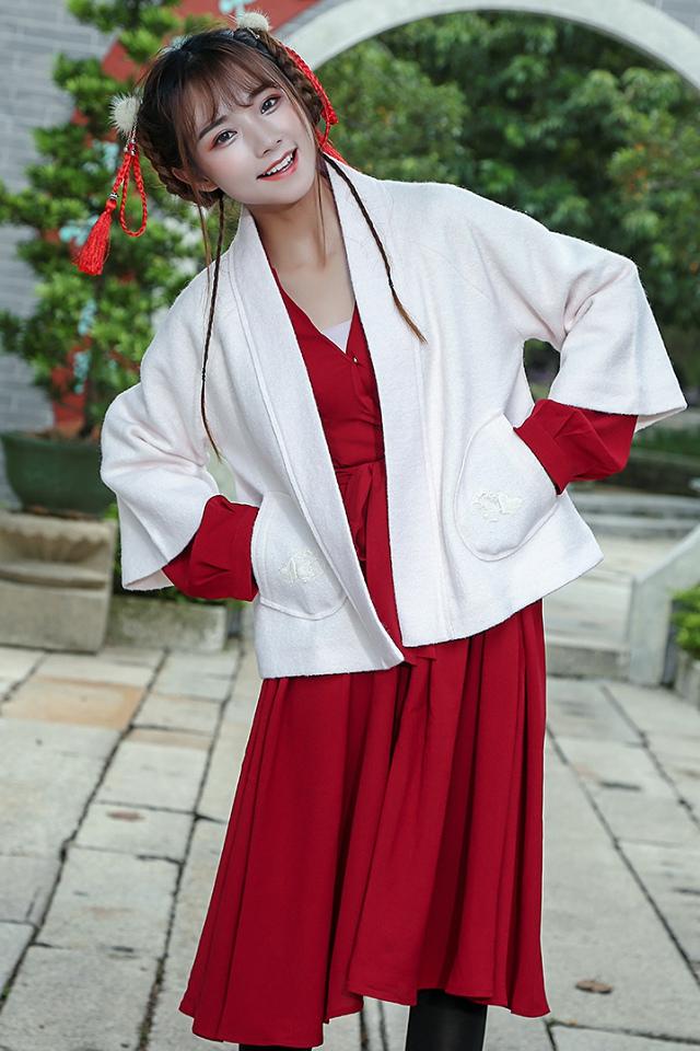 中式呢套装