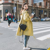 Pregnant women's coat Spring and Autumn Mid-long Korean version 2019 new autumn loose cap pregnant women's windbreaker during pregnancy Chao Ma