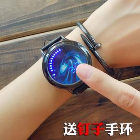 韩版潮流触屏运动电子表男款学生表智能手表女儿童表夜光情侣表