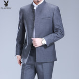 Playboy Zhongshan Suit Middle-aged Men's Suit Chinese Style Show Suit Chinese Littlecollar Dad's Wedding Dress