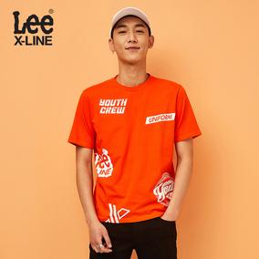 Lee男装2018夏季新款短袖T恤男青年潮 L319182LQ8ME