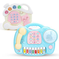 Children's toy simulation phone baby puzzle music early education baby 0-1-3 years old boy girl 12 months
