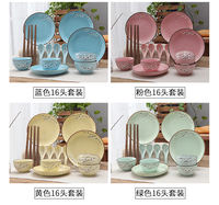Japanese creative gifts home ceramic tableware dishes chopsticks dishes dishes spoon set plate bowl set combination
