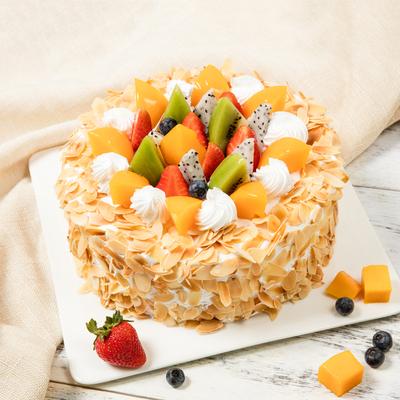果繽紛生日蛋糕 新鮮水果蛋糕 趣香園節日蛋糕 同城免費送貨上門