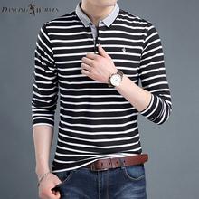 与狼共舞秋季纯棉长袖 中青年男装 休闲体恤POLO衫 新款 韩版 t恤男士