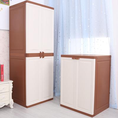 双开门简易衣柜多层收纳柜子组合塑料整理储物柜家居儿童宝宝衣柜官方旗舰店