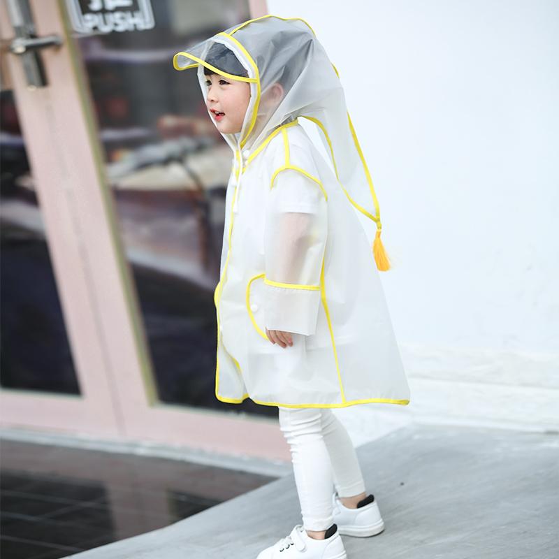 儿童雨衣宝宝幼儿园男童女童雨披透明1-3一岁小童学生2-6抖音可爱