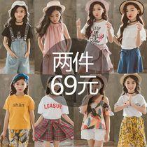 5女童连衣裙子2018夏装9中大童小学生女孩10套装12洋气13儿童15岁