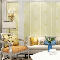 煌森壁纸 简约欧式3D立体条纹无纺布 客厅电视背景墙卧室书房墙纸