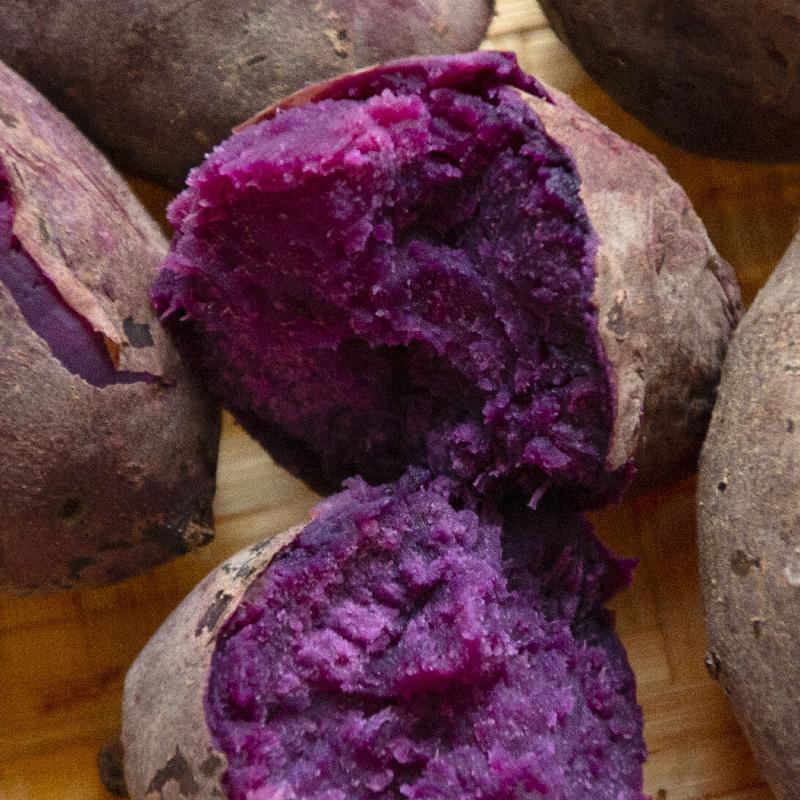 农家新鲜紫薯现挖小番薯5斤包邮香非天目山10地瓜红薯蜜暑紫