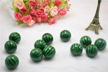 Diameter 4.2CM large size watermelon rubber solid ball spanning machine special jumping ball children pet toys