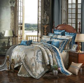 别墅高档床上用品十件套 欧式豪华 婚庆床品结婚四六多七八件被套