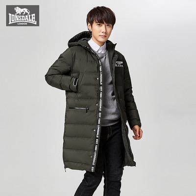 龙狮戴尔明星同款户外工装羽绒服男中长款2017新款韩版134421289