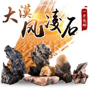 天然小石头奇石鱼缸造景石菖蒲假山微景观摆件配景石 戈壁风凌石