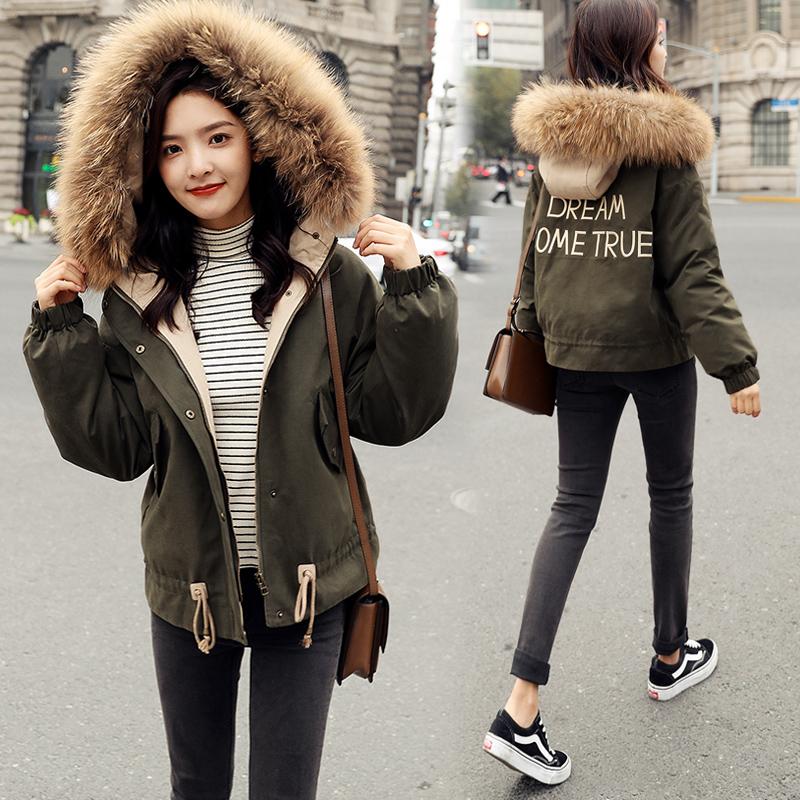 短款外套女冬加厚小个子棉衣韩版2018新款棉袄矮冬装面包羽绒棉服