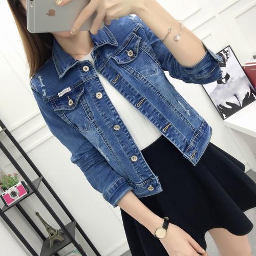 牛仔外套女春秋季短款宽松显瘦韩版bf学生修身夹克上衣长袖小外套