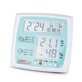 The high-precision room temperature and temperature meter clock of the electronic dry and wet thermometer room of virtue