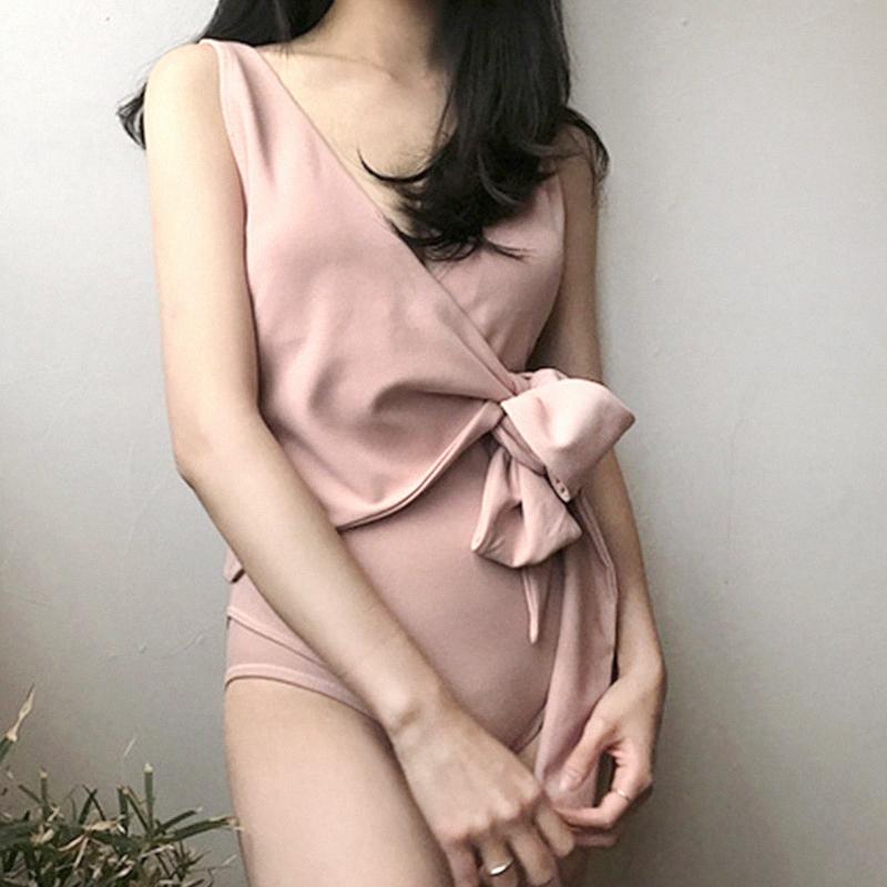 韩版女泳装三角连体