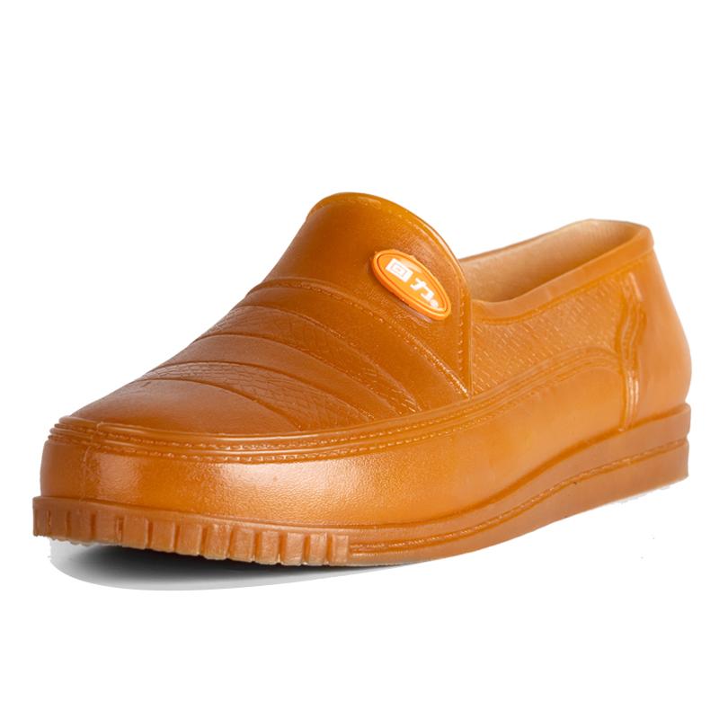 回力雨鞋夏季浅口低帮短筒胶鞋男成人防水鞋白色短雨鞋女时尚套鞋