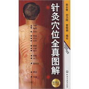 正版包邮 针灸穴位全真图解(附耳穴图) 中医针灸口袋书 真人拍摄图片与解剖图结合的方式标示穴位 定位更加清晰准确 中医书籍
