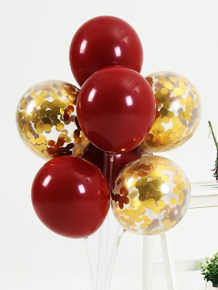 ins网红气球宝石红色结婚用品浪漫婚房装饰生日婚礼告白场景布置
