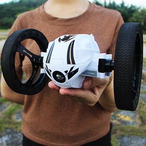 弹跳遥控汽车充电越野车机器人特技翻滚跳跳四驱男孩赛车儿童玩具