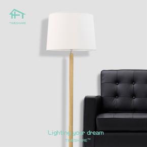 北欧实木脚踩遥控站立式落地灯日式现代简约客厅卧室乡村复古台灯
