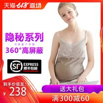防辐射服孕妇装连衣裙孕妇防辐射衣服围裙怀孕期肚兜四季