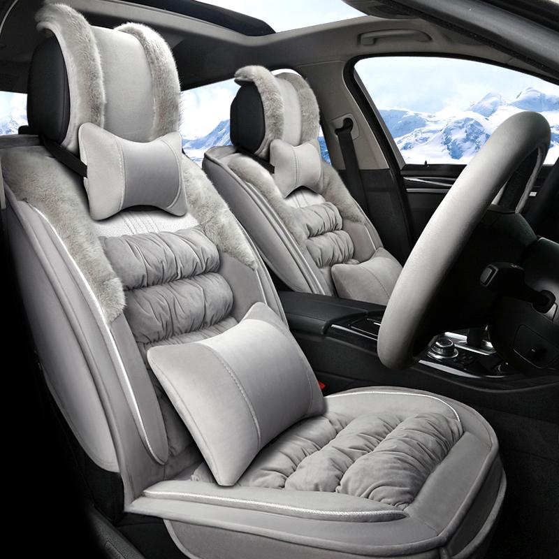 新款汽车坐垫毛绒冬季专用雪铁龙C4L世嘉爱丽舍C5 C5 C3-XR座垫
