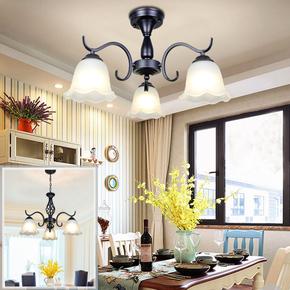 欧式吊灯温馨卧室灯房约大气客厅灯铁艺餐厅灯具艺术美式吸顶