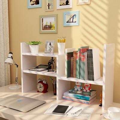 小书架桌面置物简易书桌上的书柜学生用宿舍寝室迷你省空间架子放什么牌子好