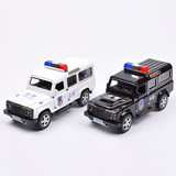 Alloy simulation Hummer police car children's sound and light back force police car Jeep off-road vehicle children's toy car model