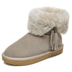 雪地靴女短筒韩版百搭学生棉靴冬季保暖加绒棉鞋2017新款短靴女鞋
