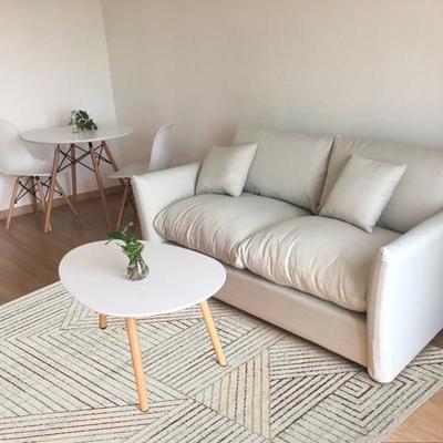 新中式北欧现代简约客厅地毯卧室茶几飘窗垫可机洗房间长方形灰色使用感受